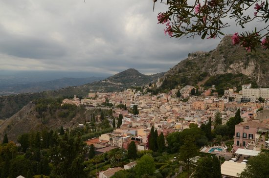 Ancient Theatre of Taormina : View from the Amphitheater