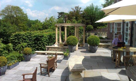 Tasburgh House Hotel Ltd : spacious multi-layered patio areas
