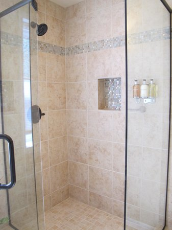 "Sunflower Hill, A Luxury Inn: Sunporch Room's ""perfect"" shower."