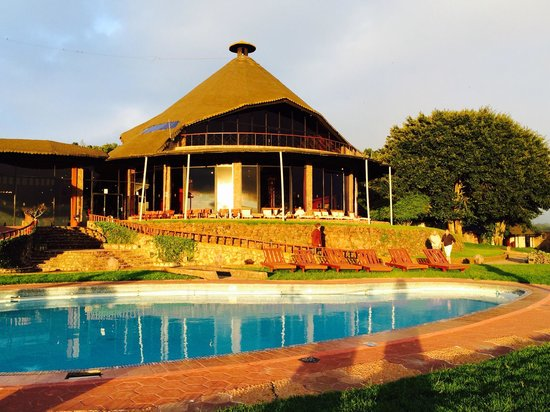 Ngorongoro Sopa Lodge: Poolside