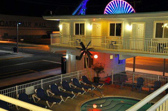 Stardust Motel in Wildwood NJ Evening photo