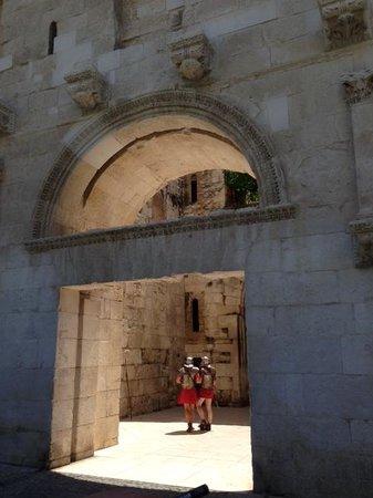 Old Split : Diocletian's Palace walls in Split