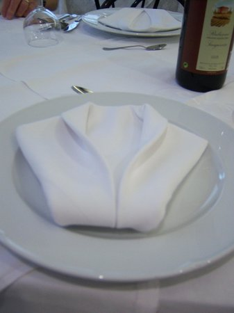 Color Punta Nord Village: Vincents beautifully folded napkin.