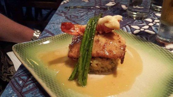 Mama's Fish House: Lobster stuffed Mahi-Mahi