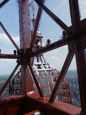 The Blackpool Tower: nearly at the top