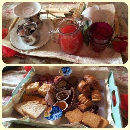 Agriturismo Romantico Taverna di Bibbiano: colazione in camera