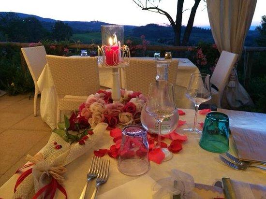 Agriturismo Romantico Taverna di Bibbiano: seconda postazione per la cena romantica
