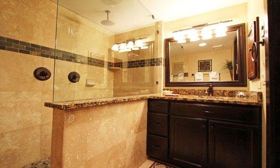 Snow Flower Condominiums: Beautifully remodeled bathroom in a premium studio unit