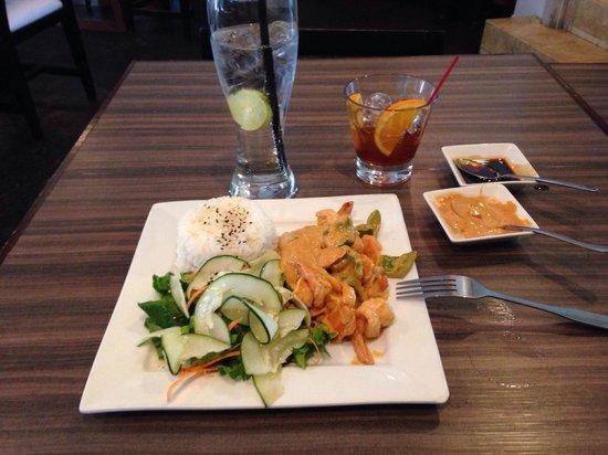 Kobu Restaurant: Camarones al Curry ( saben a mole mexicano)