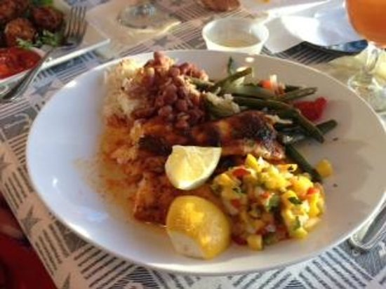 Bayside Grille & Sunset Bar : Snapper with Mango Salsa