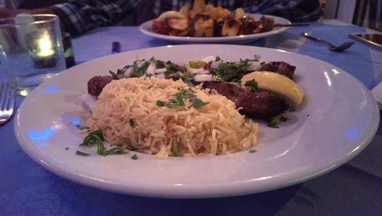 Rozafa: The lamb main course goes great with rice. Tasty and filling