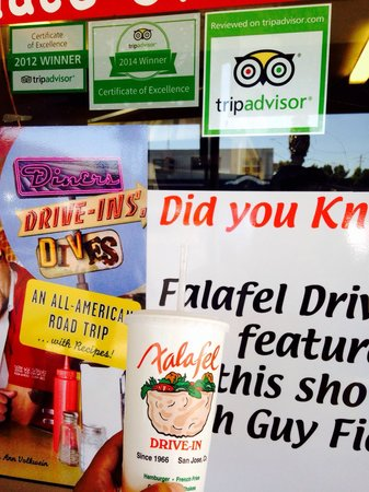 Falafel Drive-In: Certificate of Excellence ����
