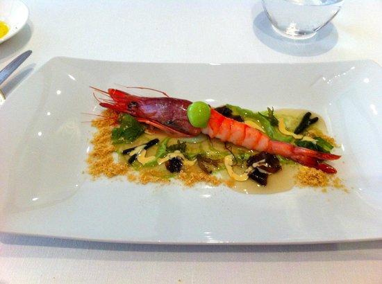 Restaurante Lasarte: Gambas de palamos