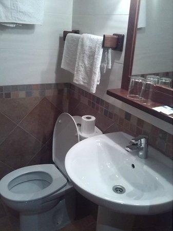 Hostal El Pilar: baño limpio