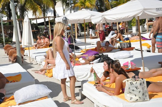 Nikki Beach Miami – South Beach's Best Kept Secret. Nikki Beach Miami is the hidden jewel of South Beach, located at One Ocean Drive along the beautiful Atlantic Ocean amid swaying palms trees and warm sunny breezes.