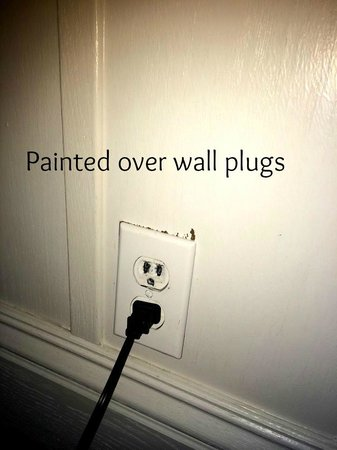 Lighthouse Lodge & Cottages : Painted plus and outlets Safety / Fire Hazard