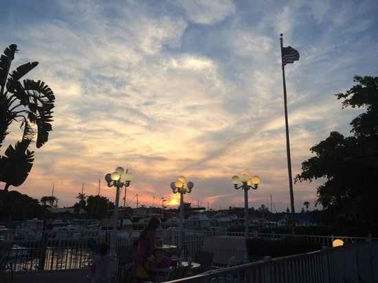 Ramada Sarasota: Sunset over the marina