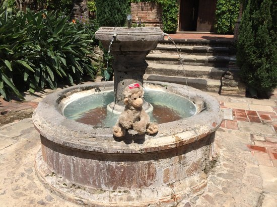 Hotel Museo Spa Casa Santo Domingo : At the fountain in back