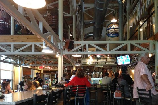 Snake River Brewing: They offer seating in two levels surrounded by the brewing vats