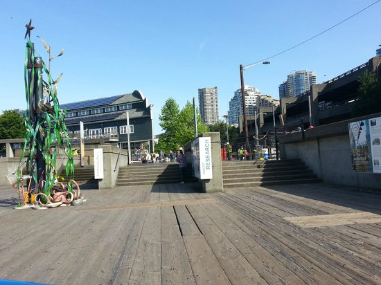 Looking toward the aquarium on the Seattle Waterfront