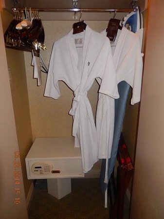 Omni Chicago Hotel: Cushy robes, lots of hangers, safe.