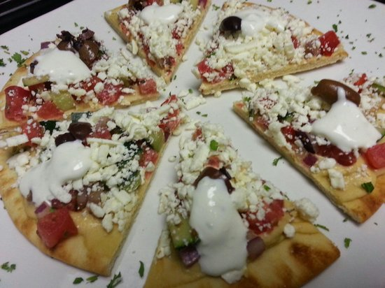 Acropolis Pizza: Greek Nachos are a nice lite appetizer or meal.