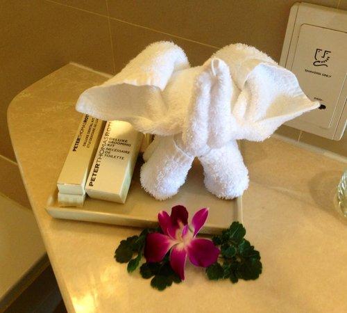Hilton Phuket Arcadia Resort & Spa: Elephant in my bathroom