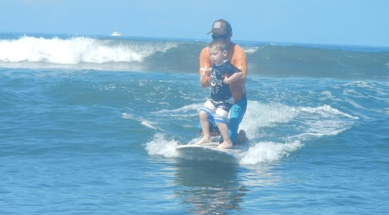 Rivers To The Sea: Enzo surfing for the first time!