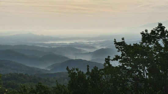 My view from 1224 Sky High Overlook Chalet Village Gatlinburg,  TN.