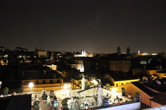 The First Luxury Art Hotel: View from rooftop bar