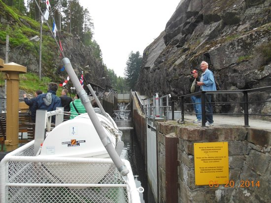 The Telemark Canal: Entering the Lock