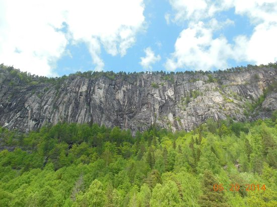 The Telemark Canal: Sheer Wall of Rock