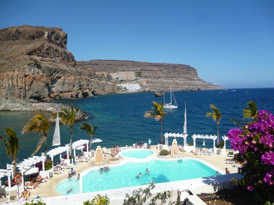 Hotel The Puerto de Mogan: Roof terrace sea view