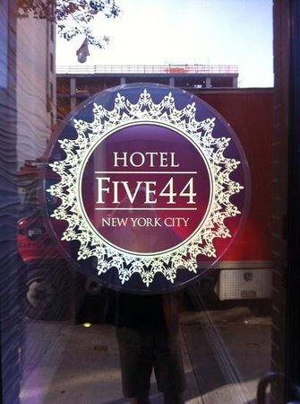 Hotel Five44: Front door