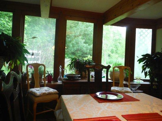 Rock Laurel Bed and Breakfast : Breakfast area