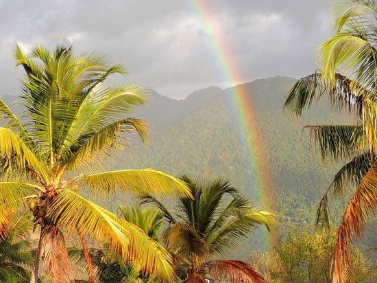 Crystals St Lucia: Rainbow from Papaya deck