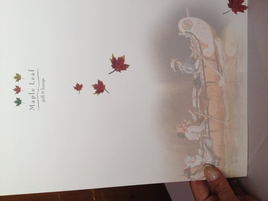 The Maple Leaf: Menu to happiness