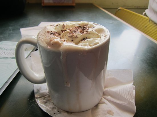 Silverbow Bakery: Hot chocolate - they use whole chocolate milk rather than a chocolate mix or powder (yay) but do