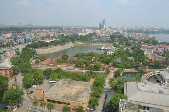 Sheraton Hanoi Hotel: A view from the 16th floor.