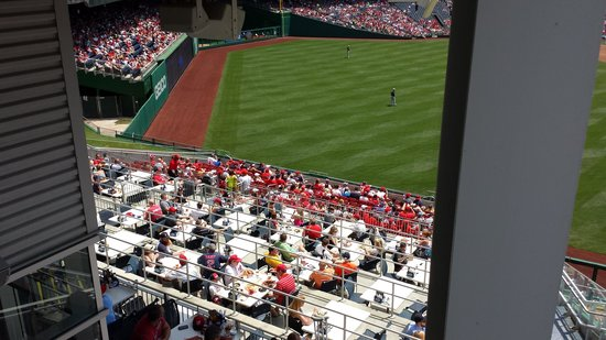 Nationals Park: Restaurant outfield seats