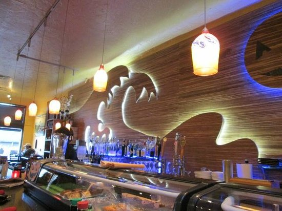 Karma Sushi Bar Grill : Interior