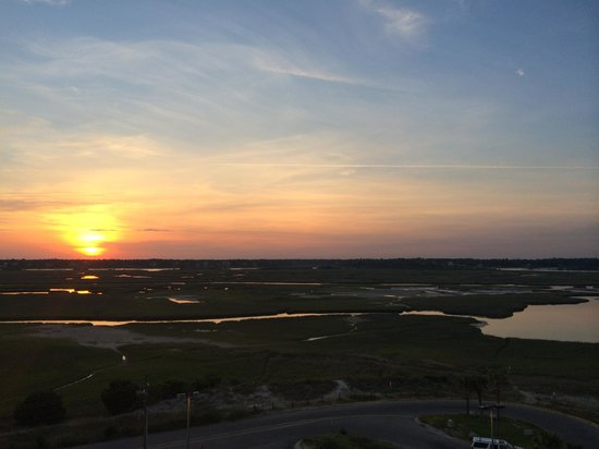 Beautiful sunset on the Inlet Waterway side of Shell Island Resort