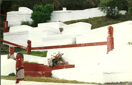 Whakarewarewa - The Living Maori Village : cementerio maori