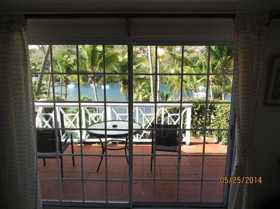 Marigot Beach Club and Dive Resort : From inside the room