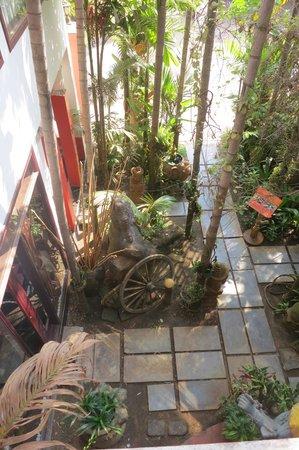 Golden Temple Villa: tropical foliage surrounding it