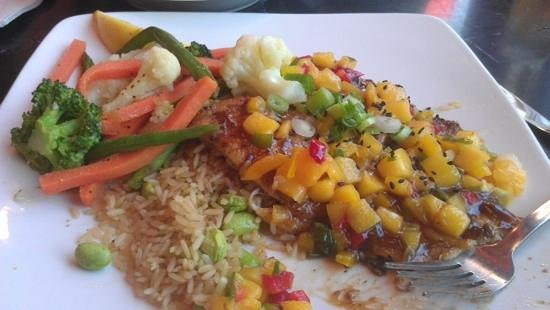 Silver Diner: grilled (?) flounder