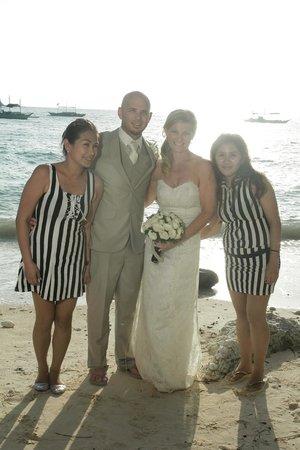 The Palms of Boracay : PhWedding staff Weng & Rea