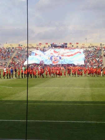 Toyota Park (Bridgeview Stadium): Tifo display from the Fire supporters before the game