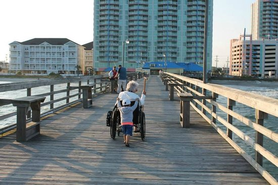 Wheelchair accessible picture of cherry grove pier for Cherry grove pier fishing report