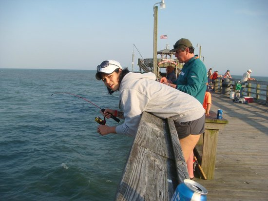 fishing picture of cherry grove pier north myrtle beach